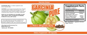 Garcinia Cambogia Extract Label